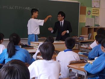 先生も勉強 - 東山田中学校